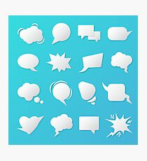 Comic Speech Bubbles. Blank Templates for Chat. Photographic Print