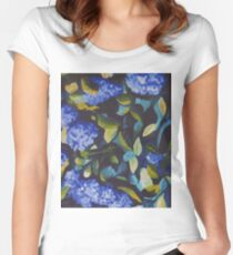 Dance in Blue and Green Women's Fitted Scoop T-Shirt