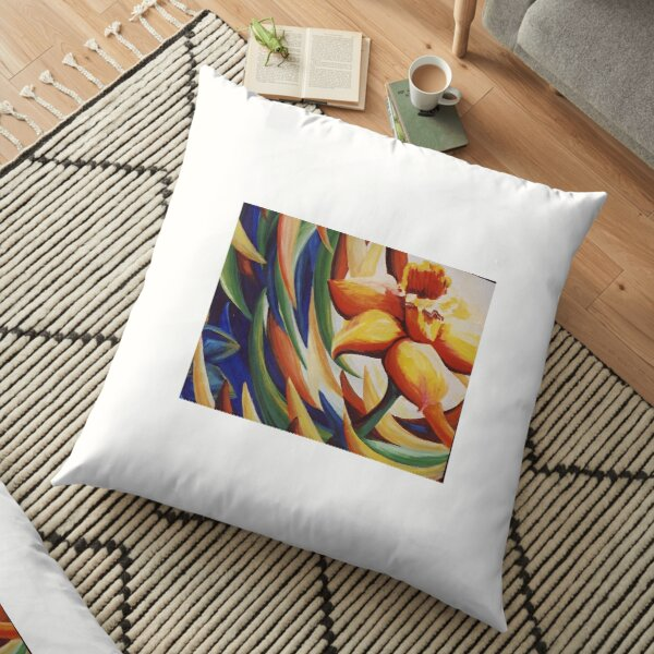 Daffodil Dance Floor Pillow
