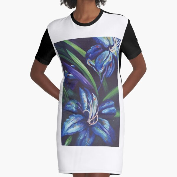 Blue Rhapsody Graphic T-Shirt Dress