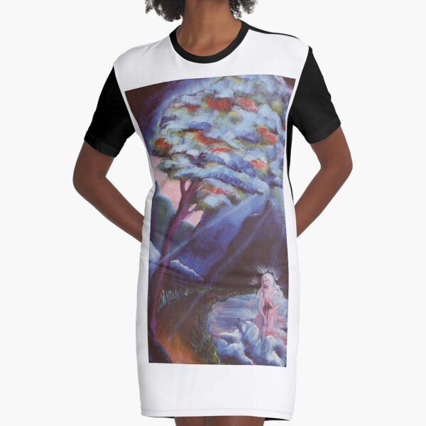 Lady of the Lake Graphic T-Shirt Dress
