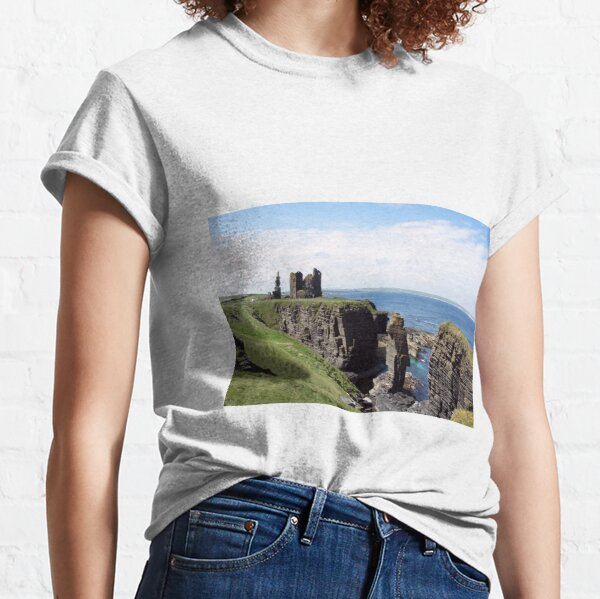 Seastacks and Ruined Castle Classic T-Shirt