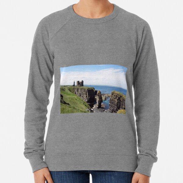Seastacks and Ruined Castle Lightweight Sweatshirt