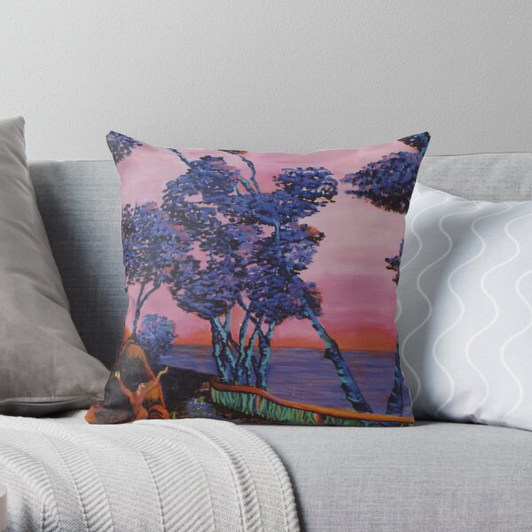 Welcoming of the Water Spirit Throw Pillow