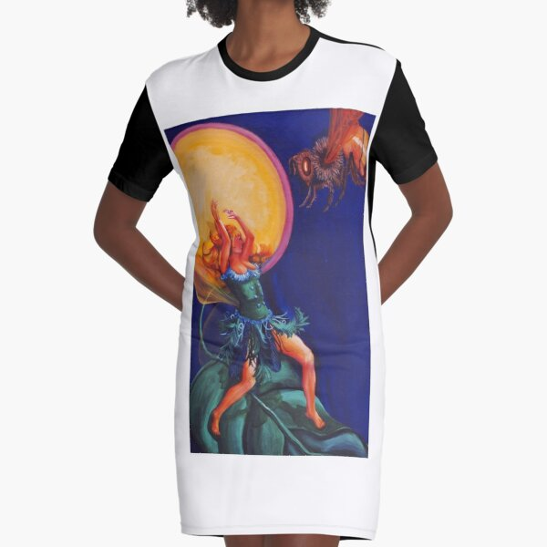 The Spell of the Bees Graphic T-Shirt Dress