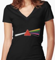 Dark side of the table Women's Fitted V-Neck T-Shirt