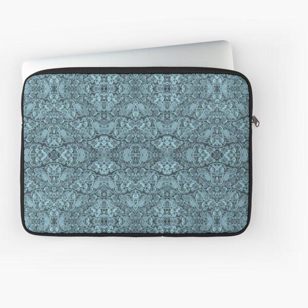 Kaleidoscope Vintage Endpaper (cyan) Laptop Sleeve