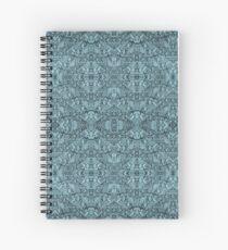 Cuaderno de espiral Caleidoscopio Vintage Endpaper (cian)