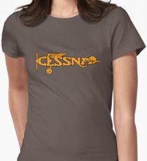 Camiseta entallada para mujer Cessna Vintage Logo Kansas Estados Unidos