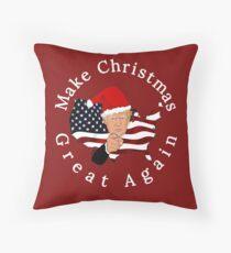 Make Christmas Great Again Donald Trump Throw Pillow
