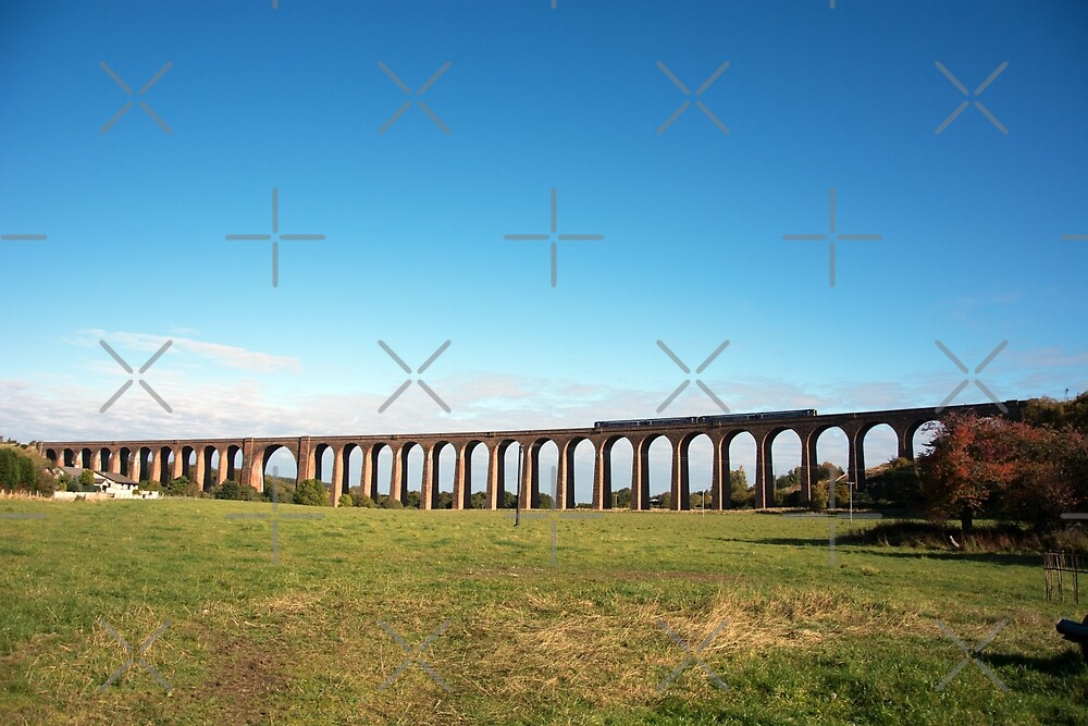 Culloden Viaduct with train by SiobhanFraser