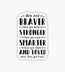 Du bist mutiger als du Winnie The Pooh glaubst Sticker