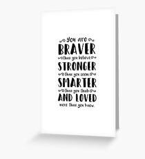You Are Braver Than You Believe Winnie The Pooh Greeting Card