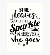 photo about She Leaves a Little Sparkle Wherever She Goes Free Printable identify She Leaves A Minimal Sparkle Any where She Goes Wall Artwork