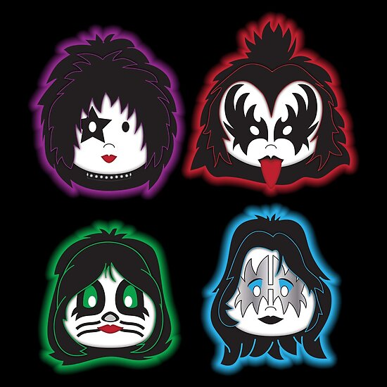 Kiss Band Faces: Kiss Faces (band) Posters By Mimogoshopping