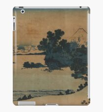 Mount Fuji Scene - Japanese pre 1915 Woodblock Print iPad Case/Skin
