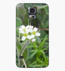 Tiny White Flowers Case/Skin for Samsung Galaxy