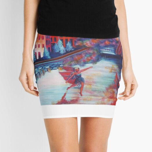 Fairies on The Lake Mini Skirt