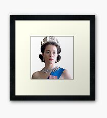 The Queen - Claire Foy Framed Print