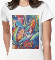Symphony in Flowers Women's Fitted T-Shirt