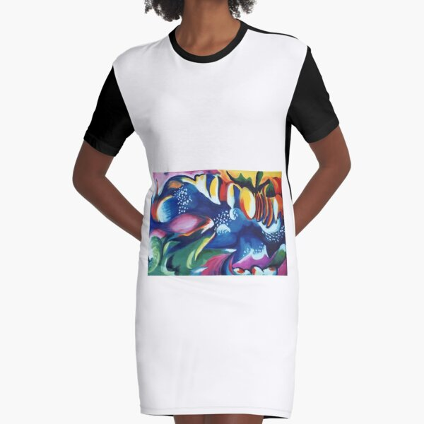 Energy Delight Graphic T-Shirt Dress