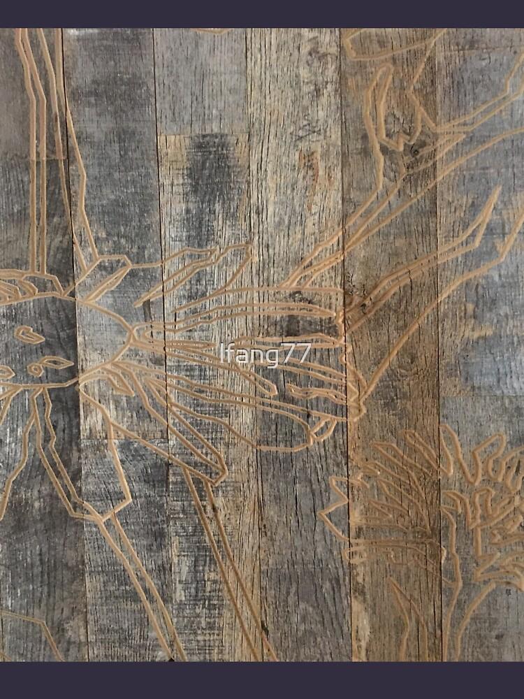 wunderliche Gänseblümchenblume graviertes Holz barnwood von lfang77