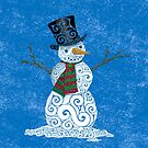 Swirly Snowman by . VectorInk