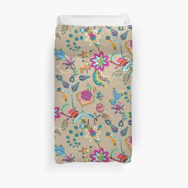 Chintz 1 On A Sand Background Duvet Cover