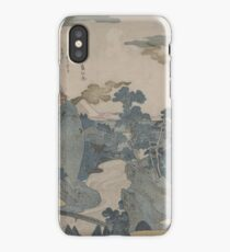 An evening view of Mount Fuji - Japanese pre 1915 Woodblock Print iPhone Case/Skin