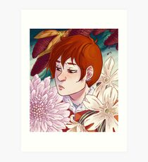 Rynne + Flowers Art Print