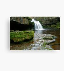 West Burton Waterfall Canvas Print