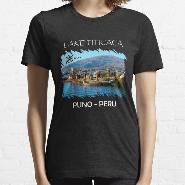 Lake Titicaca Peru Puno Llama Soccer Essential T-Shirt