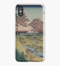 Sunset Hill, Meguro in the eastern capitol - - Japanese pre 1915 Woodblock Print iPhone Case/Skin