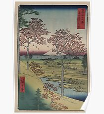 Sunset Hill, Meguro in the eastern capitol - - Japanese pre 1915 Woodblock Print Poster