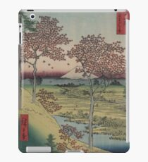 Sunset Hill, Meguro in the eastern capitol - - Japanese pre 1915 Woodblock Print iPad Case/Skin