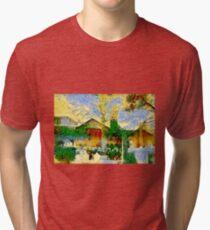 Vibrant Church Cemetery Tri-blend T-Shirt