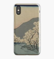 A Grove of Cherry Trees - Japanese pre 1915 Woodblock Print iPhone Case/Skin