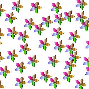 Flowers random pattern by demor44