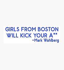 Boston Mädchen Fotodruck
