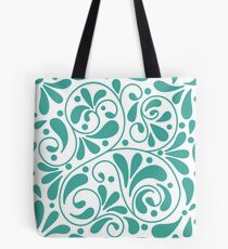Playful turquoise leaves Tote Bag