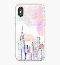 Pastel New York skyline iPhone Case
