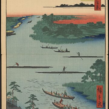 Gajō icchō - views of Edo, Japan - Japanese pre 1915 Woodblock Print by ashburg