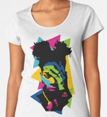 Basquiat color Women's Premium T-Shirt