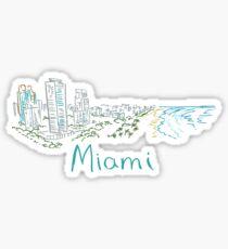 Miami Panorama Sticker