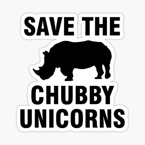 Sauvez les licornes potelées Sticker