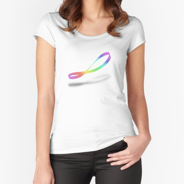 Infinite Rainbow {Mobius Band} Fitted Scoop T-Shirt