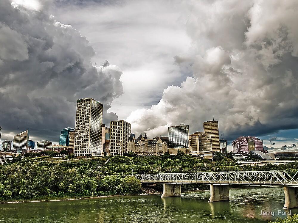 Summer Storm Over Edmonton by Myron Watamaniuk