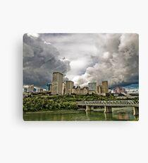 Summer Storm Over Edmonton Canvas Print