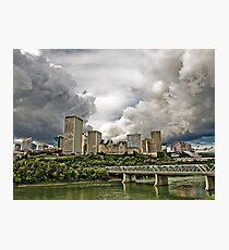 Summer Storm Over Edmonton Photographic Print