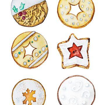 Kekse Illustrationen von farbcafe